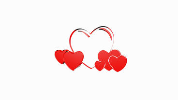 Rotation of 3D heart.love,red,symbol,heart,valentine,romance,illustration,holida Animation