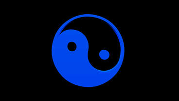 Rotation of 3D yin-yang symbol.culture,symbol,yang,buddhism,balance,ying,chinese Animation
