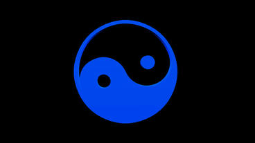 Rotation of 3D yin-yang... Stock Video Footage