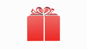 Rotation of 3D Gift... Stock Video Footage