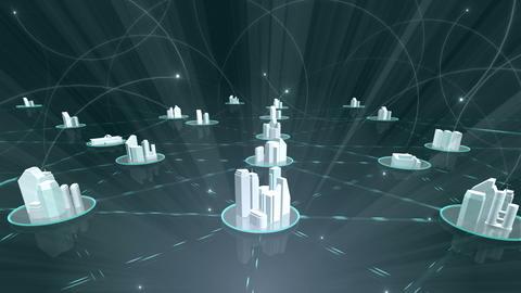 Network City 5 Ba 4 HD Stock Video Footage
