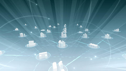 Network City 5 Da 4 HD Stock Video Footage