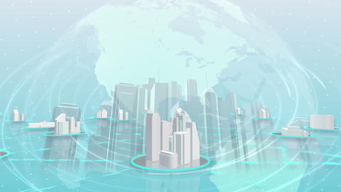 Network City 6 Df HD Animation