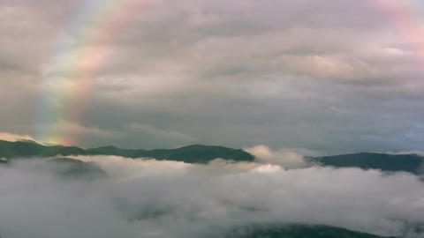 Rainbow in the mountains Stock Video Footage
