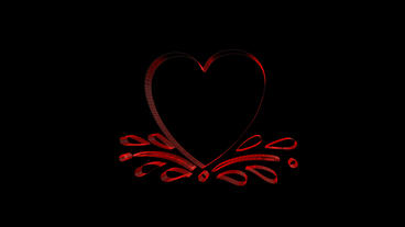 Rotation of 3D heart.Grid,mesh,love,red,symbol,heart,valentine,romance,illustrat Animation