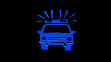 Rotation of Police car.cop,police,patrol,car,vehicle,emergency,security,agency,l Animation