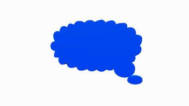 Rotation of 3D Cloud Dialog.bubble,illustration,design,communication,vector,grap Animation