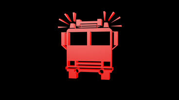 Rotation Of 3D Firetruck.rescue,emergency,vehicle,digital,agency,engine,help stock footage