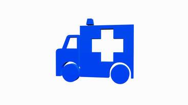 Rotation of 3D Ambulance.emergency,medical,help,rescue,urgent,vehicle,hospital,h Animation