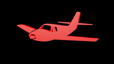Rotation of 3D Aircraft.airplane,plane,travel,flight,transportation,aviation,fly Animation