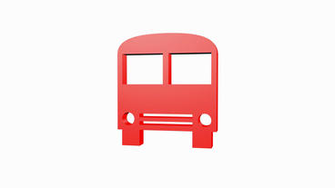 Rotation of 3D bus.car,transportation,bus,vehicle,coach,transport,passenger,publ Animation