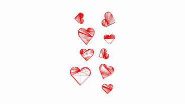 Rotation of heart.love,red,symbol,heart,valentine,romance,illustration,holiday,G Animation