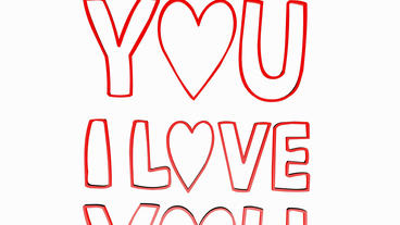 Rotation of i love you logo.valentine,card,passion,text,romantic,symbol,Valentin Animation