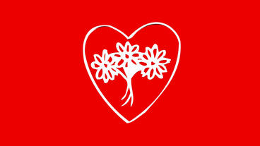 Rotation of Flower heart.love,red,symbol,heart,valentine,romance,illustration,ho Animation