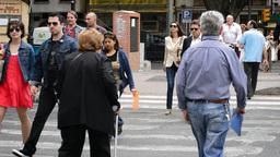 People in zebra crossing Footage