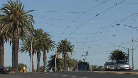 Tram in St Kilda Stock Video Footage