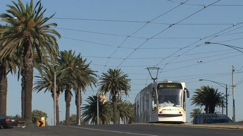 Tram in St Kilda Footage