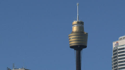 Downtown Sydney zoom out Stock Video Footage