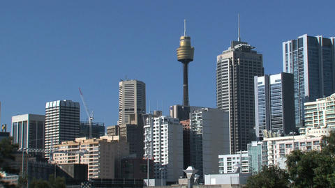 Downtown Sydney zoom out Footage