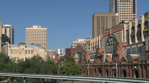 Metro Monorail downtown Sydney Stock Video Footage