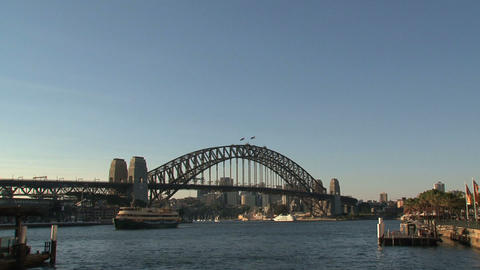 Harbor bridge zoom out Footage