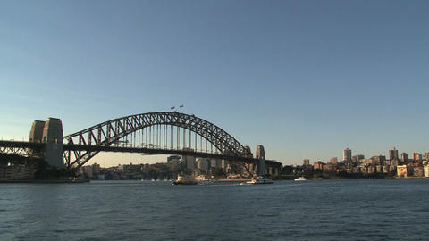 Harbor bridge in Sydney Stock Video Footage