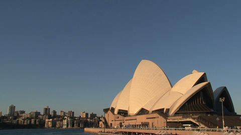 Pan from Opera house to the Harbour Bridge Stock Video Footage