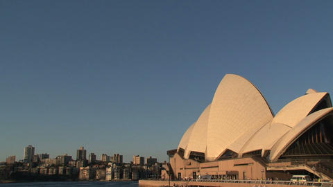 Sydney opera house during sunset Stock Video Footage