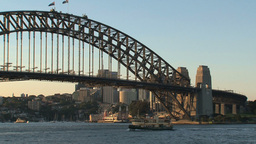 Sydney harbour bridge sunset Footage