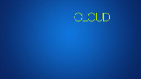 Cloud Computing word cloud text animation Stock Video Footage