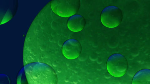Blue-green background with bubbles Stock Video Footage