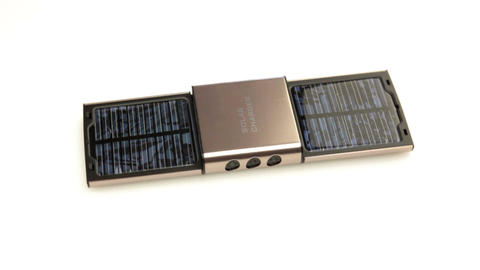 Solar charger Stock Video Footage