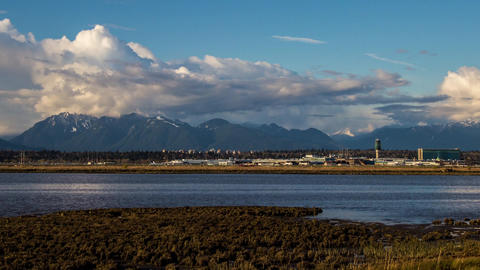 Time Lape of YVR (Vancouver International Airport) Stock Video Footage