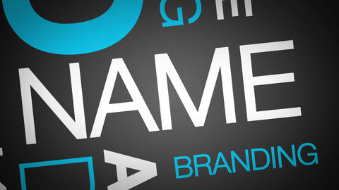 Brand Kinetic Typography Animation Stock Video Footage