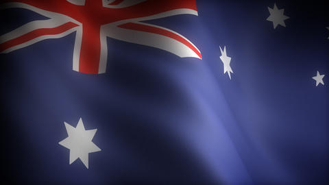 Flag of Australian Stock Video Footage