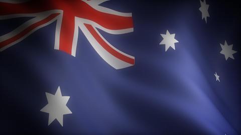 Flag of Australian Stock Video Footage