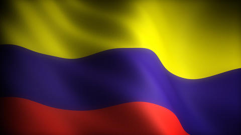 Flag of Colombia Stock Video Footage
