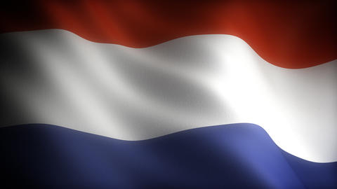 Flag of Netherland Stock Video Footage