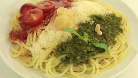 Tasty colors :) of the Italian flag Stock Video Footage
