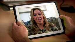 Video Chat on iPad Stock Video Footage
