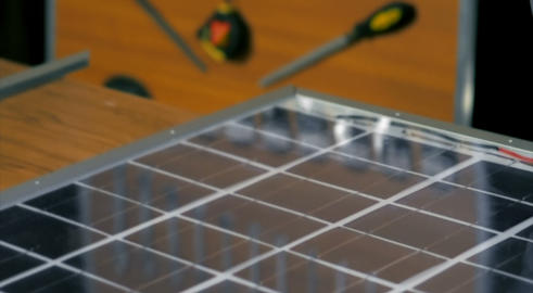 Solar Panel Assembly Stock Video Footage