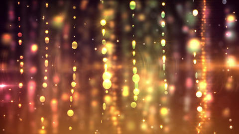 Gold curtains loop Stock Video Footage