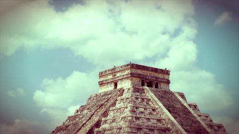 Kukulkan Pyramid at Chichen Itza Footage