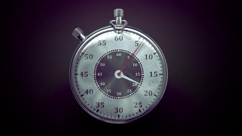 Ticking chronometer (stopwatch) with animated arrows Stock Video Footage