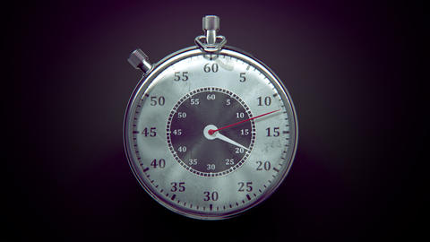 Ticking chronometer (stopwatch) with animated arrows Animation