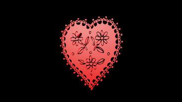 Rotation of Flower heart.love,red,symbol,heart,valentine,romance,illustration,ho Animation