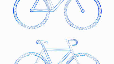 Rotation of 3D bicycle.Transportation,traffic,sports,fitness,Tour-de-France,whee Animation