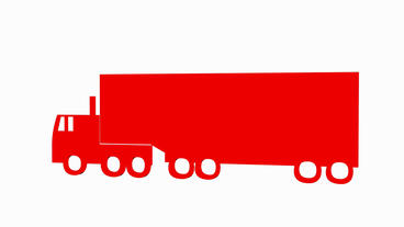Rotation Of 3D Truck.automobile,shipping,transportation,freight,cargo,vehicle,highway stock footage