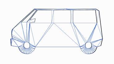 Rotation of 3D Van... Stock Video Footage