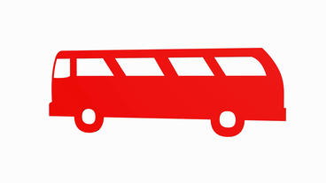 Rotation Of 3D Van Bus.car,transportation,bus,vehicle,coach,transport,passenger,public stock footage
